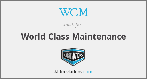 WCM - World Class Maintenance