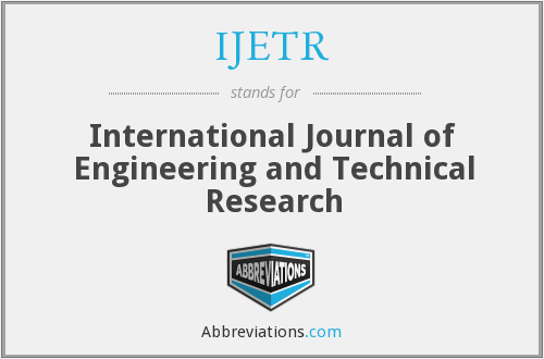 IJETR - International Journal of Engineering and Technical Research