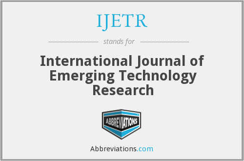 IJETR - International Journal of Emerging Technology Research