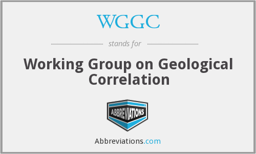 WGGC - Working Group on Geological Correlation