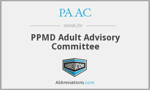 PAAC - PPMD Adult Advisory Committee