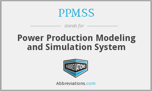 What does PPMSS stand for?