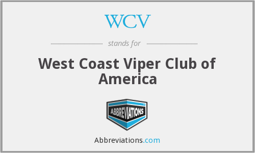 WCV - West Coast Viper Club of America