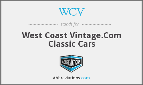 WCV - West Coast Vintage.Com Classic Cars