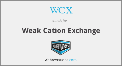 WCX - Weak Cation Exchange