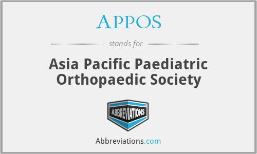 APPOS - Asia Pacific Paediatric Orthopaedic Society