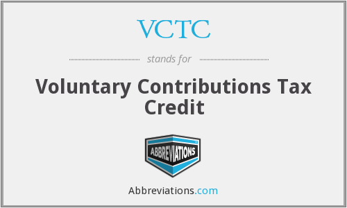 VCTC - Voluntary Contributions Tax Credit