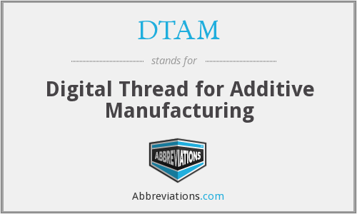 DTAM - Digital Thread for Additive Manufacturing