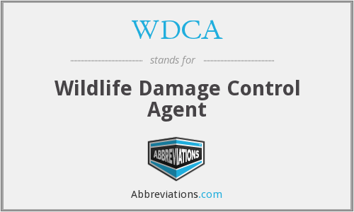 WDCA - Wildlife Damage Control Agent