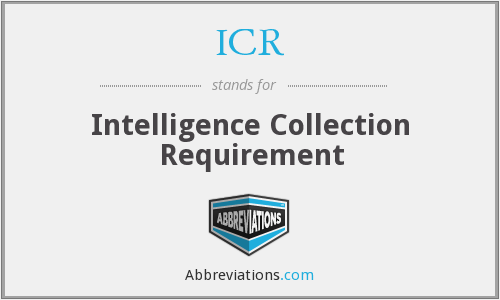 ICR - Intelligence Collection Requirement