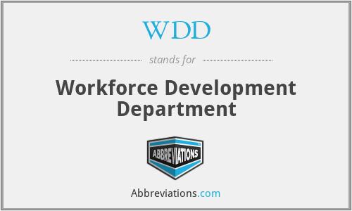 WDD - Workforce Development Department
