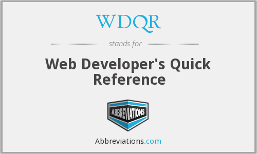 What does WDQR stand for?
