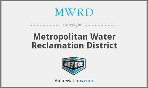What does MWRD stand for?