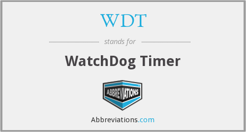 What does WDT stand for?