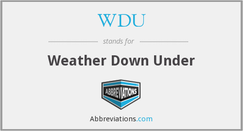 WDU - Weather Down Under