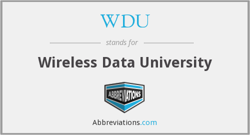 WDU - Wireless Data University