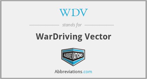 WDV - WarDriving Vector