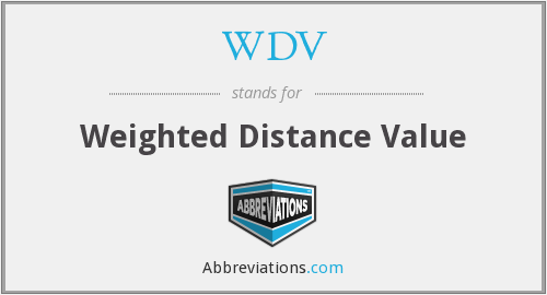 WDV - Weighted Distance Value