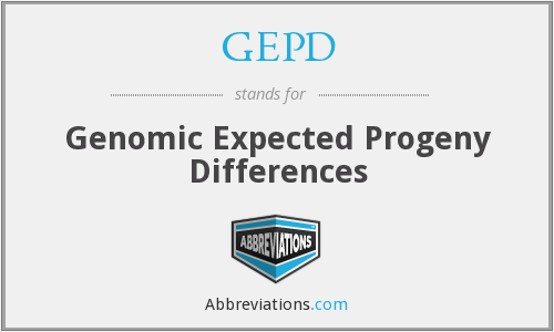 GEPD - Genomic Expected Progeny Differences