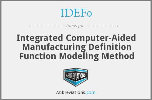 What does IDEF0 stand for?