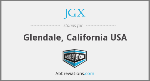 What does JGX stand for?