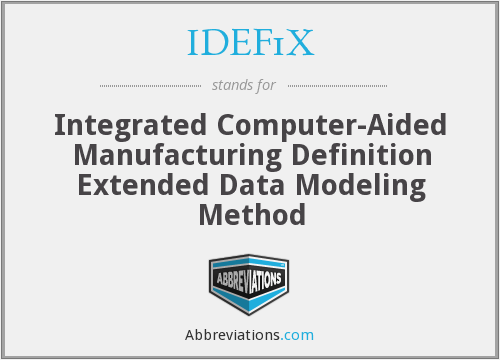 What does IDEF1X stand for?