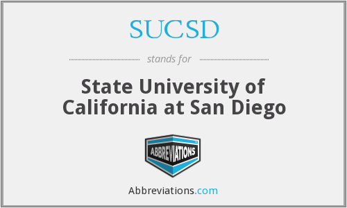 What does SUCSD stand for?