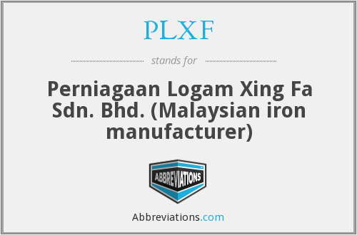 What does PLXF stand for?