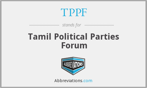 TPPF - Tamil Political Parties Forum