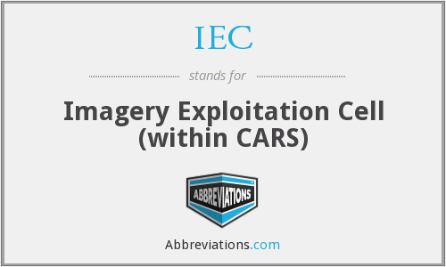 IEC - Imagery Exploitation Cell (within CARS)