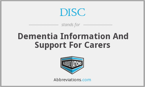 DISC - Dementia Information And Support For Carers