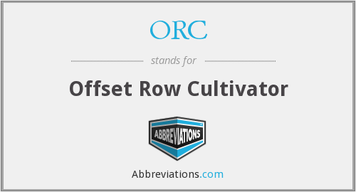 ORC - Offset Row Cultivator