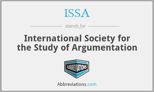 ISSA - International Society for the Study of Argumentation