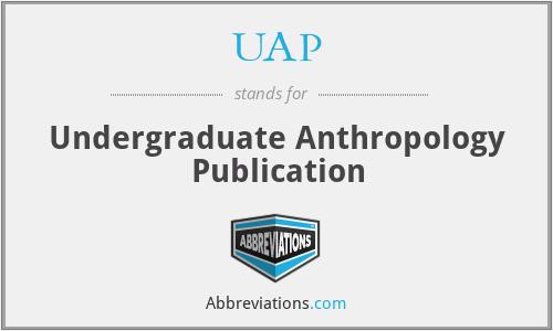 UAP - Undergraduate Anthropology Publication