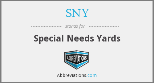 SNY - Special Needs Yards