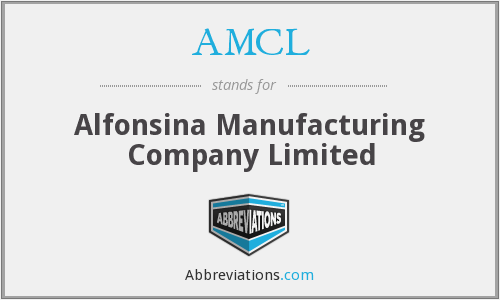AMCL - Alfonsina Manufacturing Company Limited
