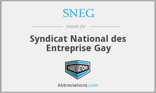 SNEG - Syndicat National des Entreprise Gay