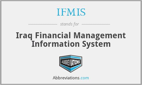 IFMIS - Iraq Financial Management Information System
