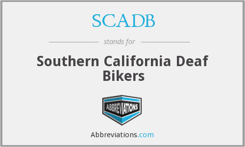 SCADB - Southern California Deaf Bikers