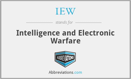 IEW - Intelligence and Electronic Warfare
