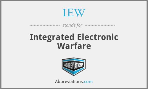 IEW - Integrated Electronic Warfare