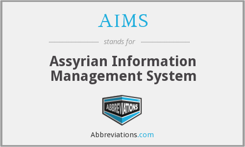 AIMS - Assyrian Information Management System