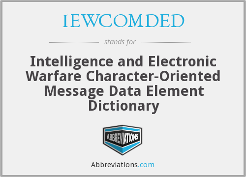 What does IEWCOMDED stand for?