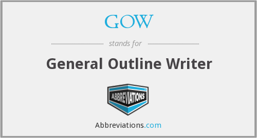 GOW - General Outline Writer