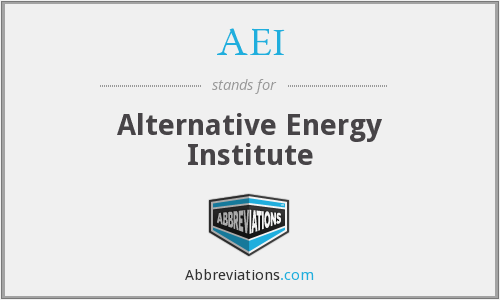 AEI - Alternative Energy Institute