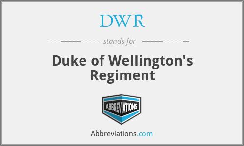 DWR - Duke of Wellington's Regiment