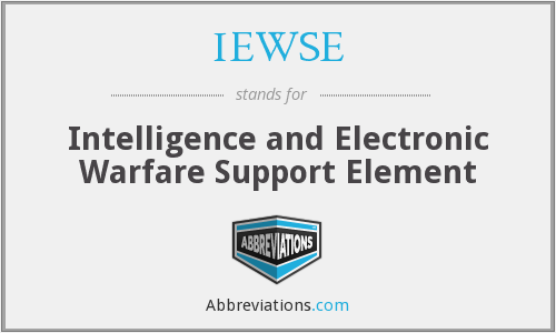IEWSE - Intelligence and Electronic Warfare Support Element