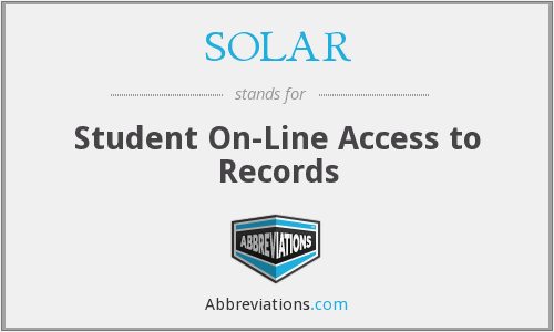SOLAR - Student On-Line Access to Records