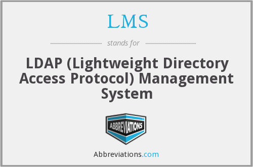 LMS - Ldap Management System
