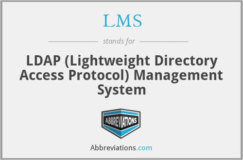 LMS - LDAP (Lightweight Directory Access Protocol) Management System